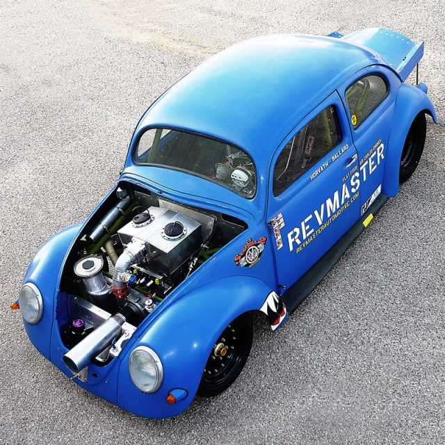 Vw Bug Drag Motor: Cool Crank Driven