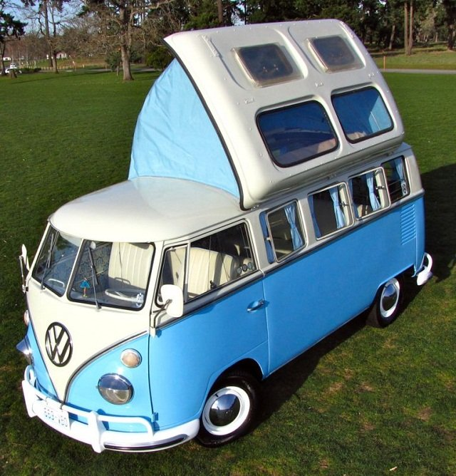 Panoramic View Beautiful 64 Vw 13 Window Bus With