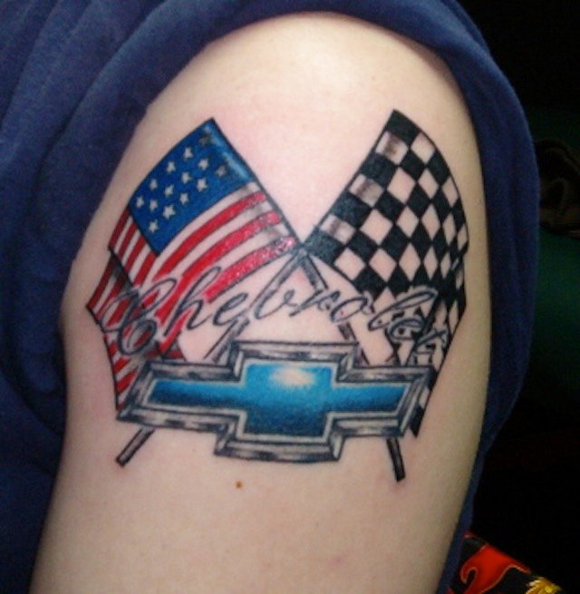 Racing Checkered Flag >> Chevy Tattoos Revisited. Making a Statement! - Chevy Hardcore