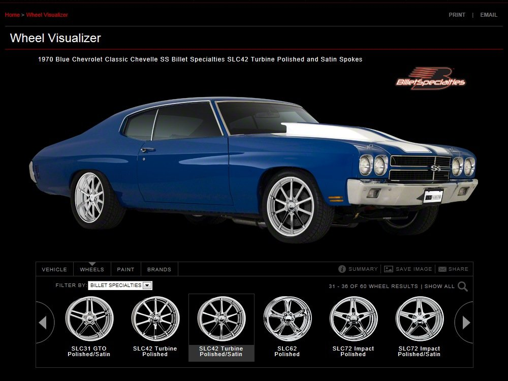 Check Out Billet Specialties Online Wheel Visualizer