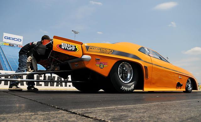 Jeff Lutz and his NMCA Pro Street Camaro.
