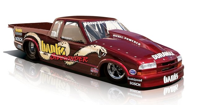 Once again, Banks was a head of the curve.  This 2007 S-10 drag truck is able to produce 1,250 horsepower almost as cleanly as a factory gasoline street car. The first pass down the track at an NHRA event, most spectators didn't even know it was a diesel!