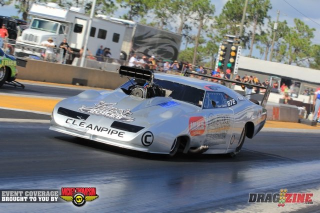 Adam Flamholc showed the potential of the Dodge Daytona running a 4.009 at 188 in the B field of Pro Mod in a win over Terry Duffy.