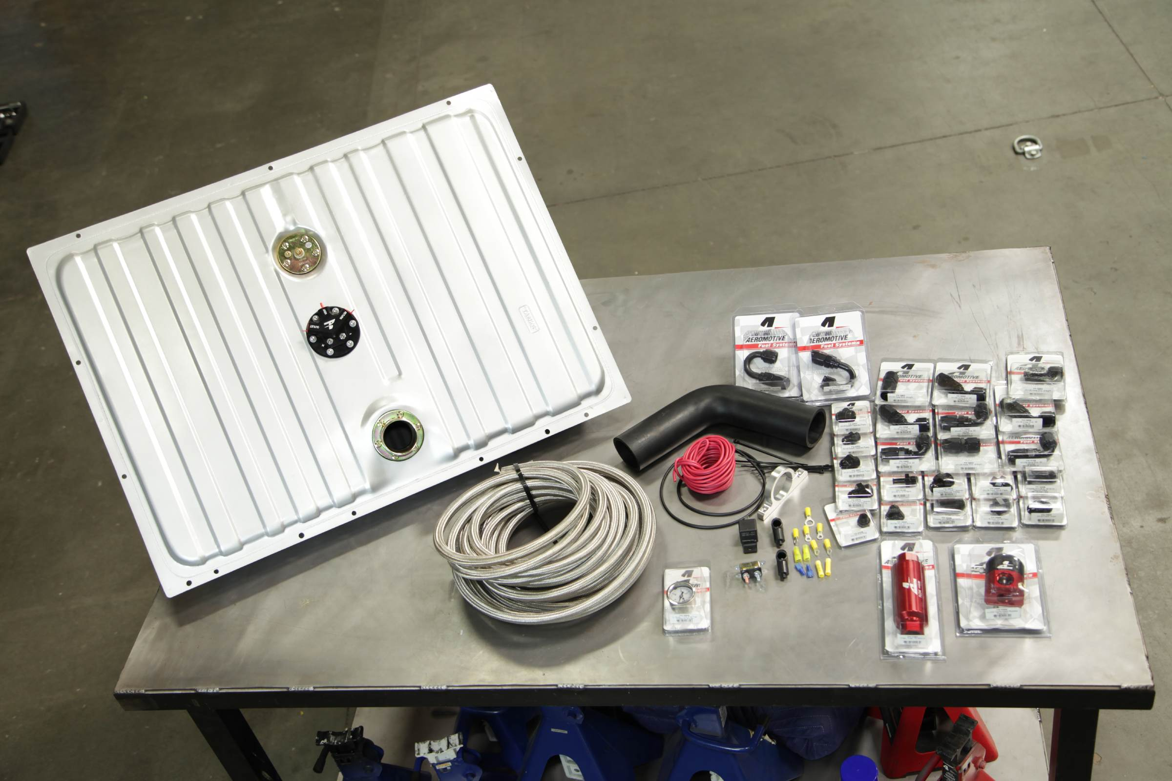 Tech Aeromotive Stealth Fuel System For First Generation Mustangs 66 Mustang Filter Location Everything Needed The Conversion Including New Tank And Pump Braided Hose Fittings Pressure Regulator