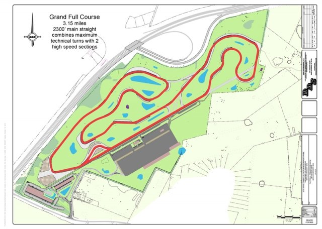 Grand Course layout for the new NCM Motorsports Park.