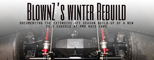 Project Blownz S Winter Chassis Build Up At Pmr Race Cars Dragzine