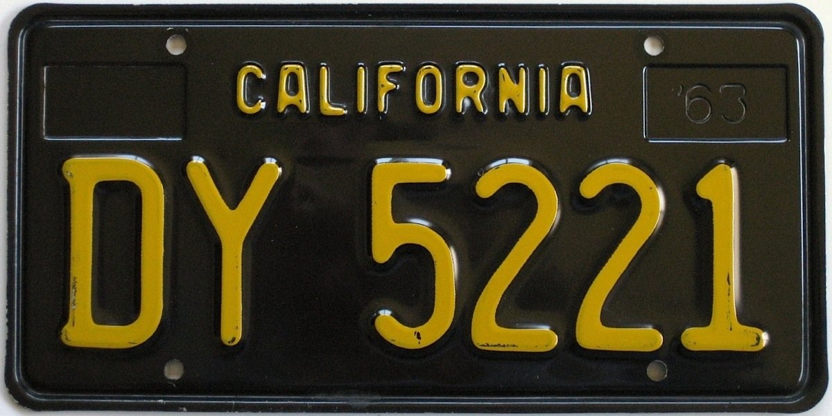 Classic 1950s Through 1970s California License Plates Now Available