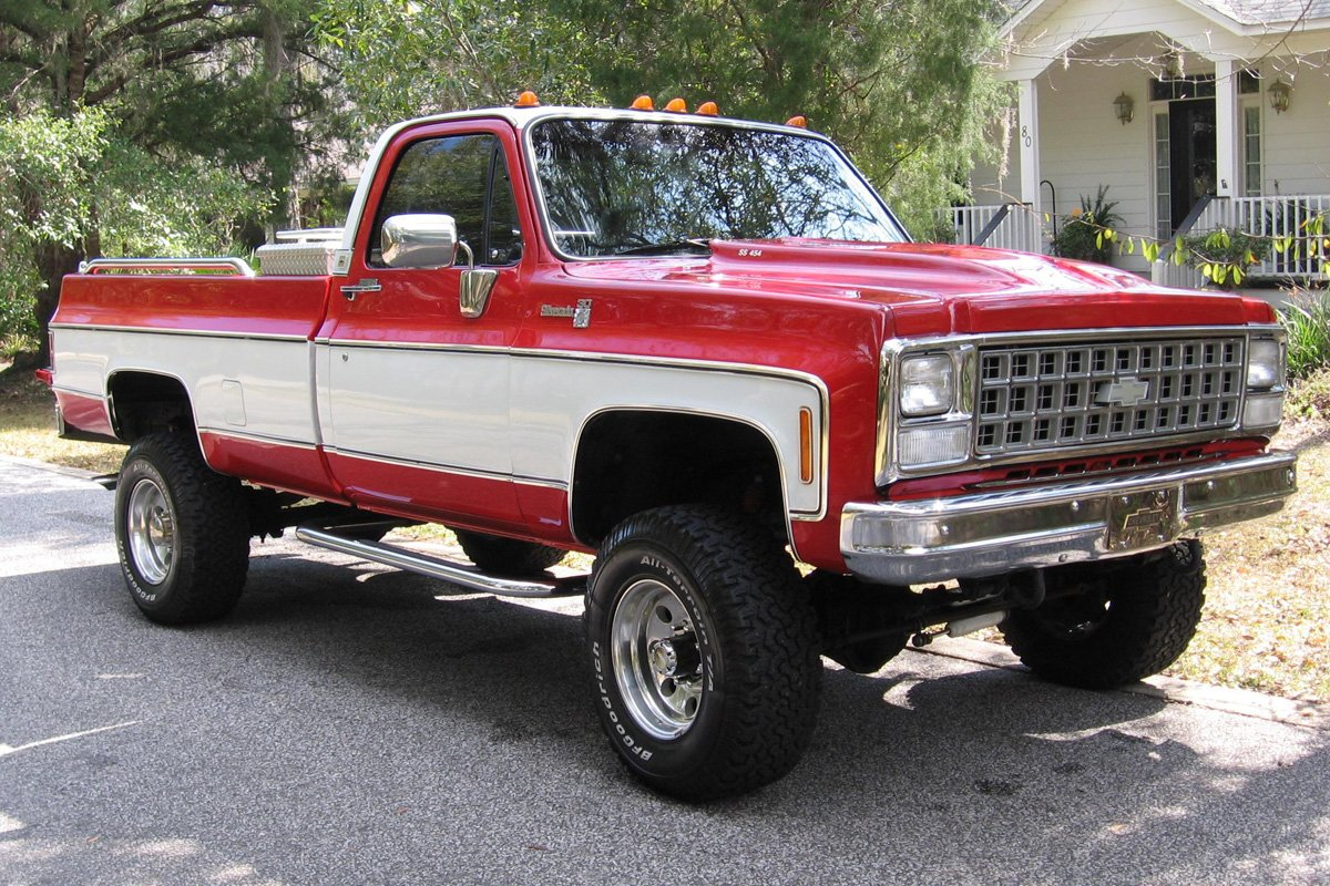 The classic third-gen GM C/K pickups, vintage 1973 to 1987 (a 1980 Chevy  4×4 pictured), are ripe for engine swaps.