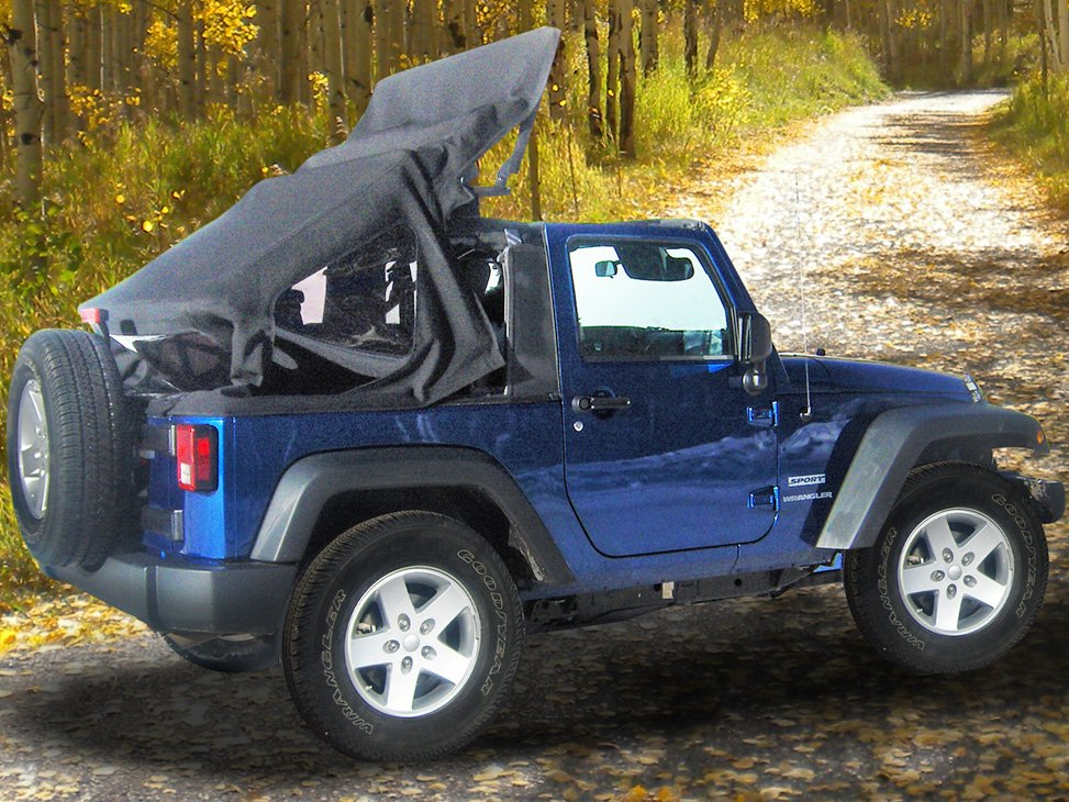 We Found A Company That Offers A Soft Top For The Jeep Wrangler That Folds  Back To Open The Jeep To The Sky Or Close Up Tightly With The Touch Of A ...