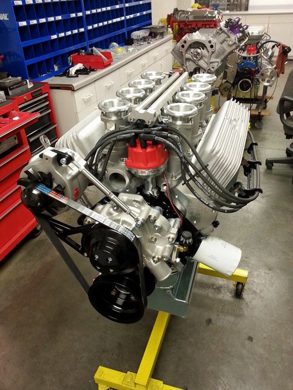 The completed engine.