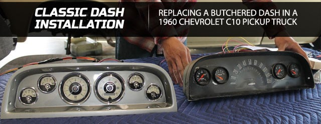 SUPER CHEVY Article On How To Install Analog Dashboard Gauges on a 1965 Chevelle