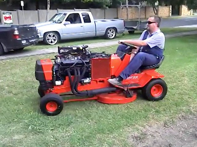 Video Introducing The Amputator A Simple V8 Lawnmower Street Muscle