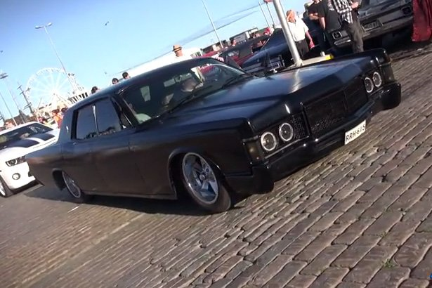Like A Gangster 1969 Lincoln Continental Caught Cruising In Finland