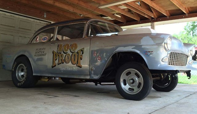 "Cheap Tow Truck Near Me >> eBay Find: Gasser-Style ""100 Proof"" 1955 Chevy Bel Air ..."
