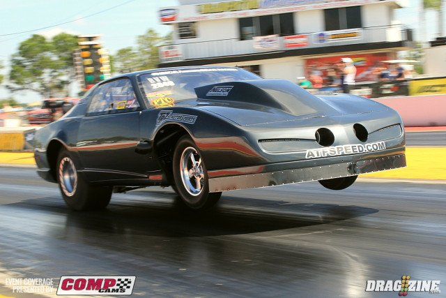 Frank Mewshaw's 1988 Pro Drag Radial Firebird is a perfect example of a car that needs an Extreme Duty Anti-Roll Bar.  Frank's car features a 556ci BBC engine fed by  twin Precision Turbo 88mm units that generate around 2,800 hp on M1 race fuel.  All of this power helps to propel the 3,150lb car down the 1/8th mile in 4.15sec on a 315 drag radial tire.