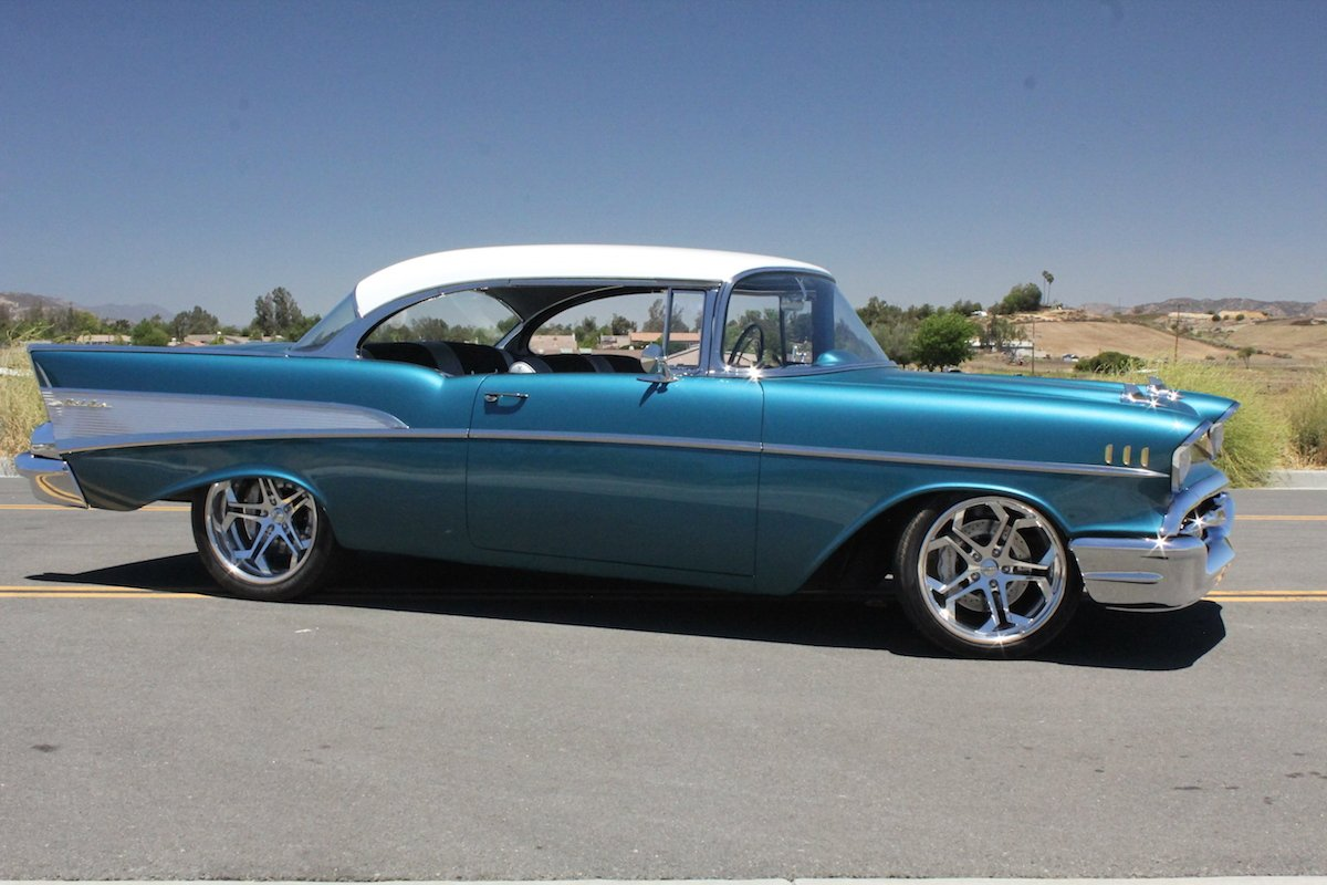 1957 chevy bel air gets overhauled. Black Bedroom Furniture Sets. Home Design Ideas