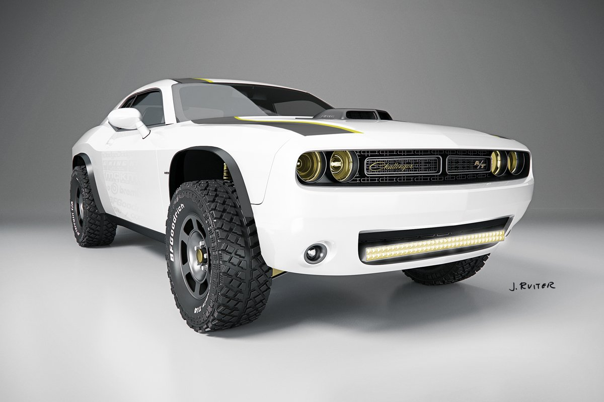 off road muscle the dodge challenger a t unlimited. Black Bedroom Furniture Sets. Home Design Ideas