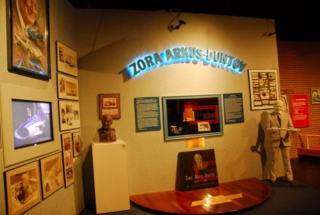 Zora's ashes are interred at the National Corvette Museum.