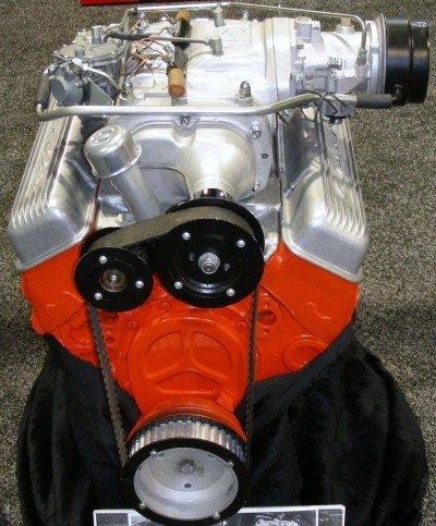 The supercharged and fuel-injected small-block Chevy V8 developed by Zora with fellow engineer John Dolza.