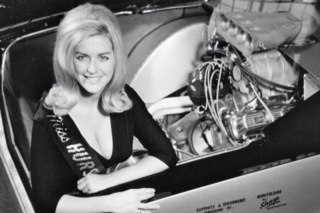 """Linda Vaughn was arguable the most well known of the """"Hurst Girls""""."""