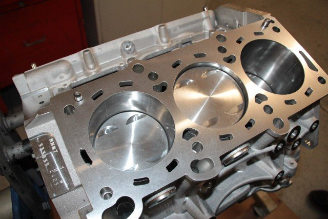 The completed short-block awaiting the cylinder heads. FFRE is working to help develop an article on those for the future, as their setup and installation simply couldn't fit within space constraints this time around.