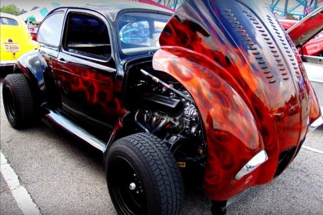 Volkswagen Beetle Punch Buggy V8 engine swap