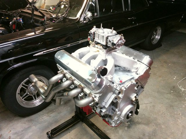 The engine is destined for the owner's 1965 Buick Skylark. The car tips the scales at 3,700 pounds; the engine will be backed by one of Circle D's 245 mm billet nitrous converters mated to a 200-4R transmission. 3.73:1 gears provide the necessary motivation as the car puts the power down on a 275-wide drag radial tire.