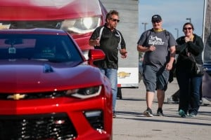 Danica Patrick Helps Deliver First 2016 Camaro To Customer