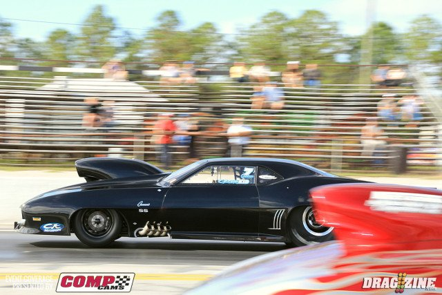 Travis Harvey laid down a nice run against Andrew Handras moving on to round two with a3.86 at 193 MPH.