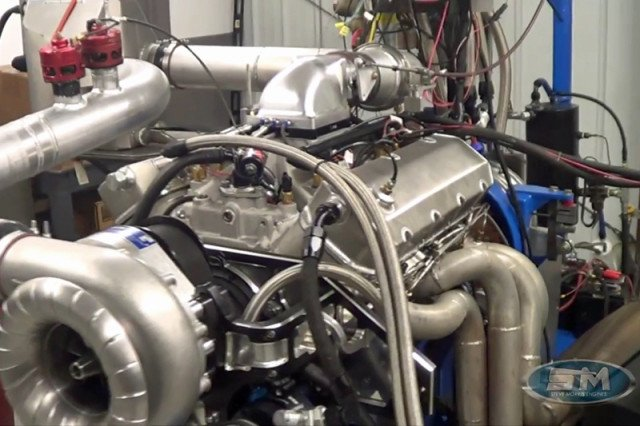 Sehon originally started this project after seeing video of another engine that SME had built for a previous customer. Once he had secured all of his parts, he shipped them to SME for completion and dyno testing.