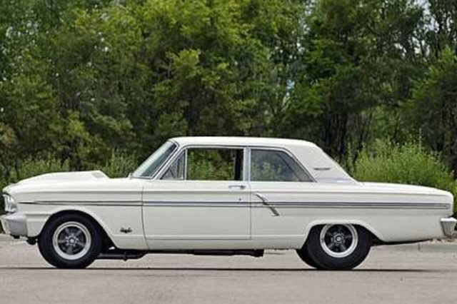 "The Fairlane cut a significantly different figure in Thunderbolt guise than it did in standard trim, particularly do to the eye-catching ""teardrop"" fiberglass hood."