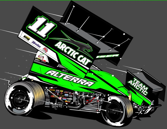 steve kinser racing and arctic cat join forces