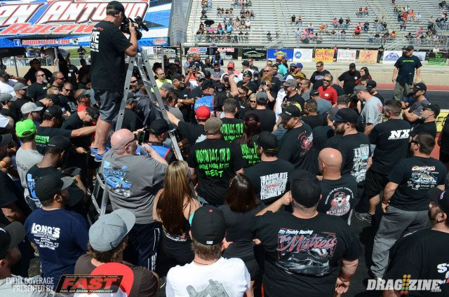 Shannon Morgan and Mike Murillo held the drivers meeting this afternoon, some expected cut-ups from the crowd and a handful of call-outs. A total of 45 Small Tire cars and 41  Big Tire cars are on hand.