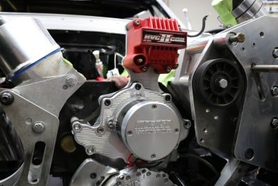 """Although it's application dependent, Moroso says itselectric water pumps flow a constant of about 36 gallons per minute with all of the accessories in place. Schroeder pointed out that this flow rating is a """"real world"""" specification with the pump installed on the engine along with a radiator installed, rather than a """"best-case-scenario"""" rating you might find elsewhere that does notillustratewhat you will see in practice."""
