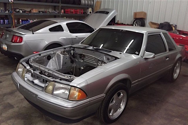 East Coast Mustangs' latest project is a Terminator swapped Foxbody being raffled for charity