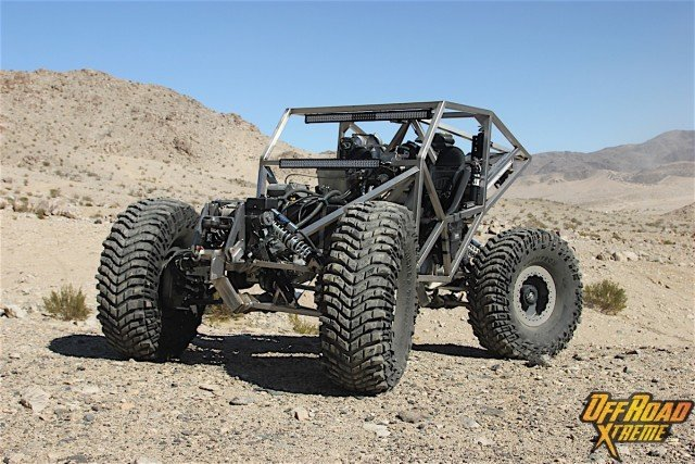 With a 123-inch wheelbase, Jeff Friesen's Hydrodynamic Buggy has the dimensions of a full-size pickup truck, but the off-road capability factor is in a whole different league.