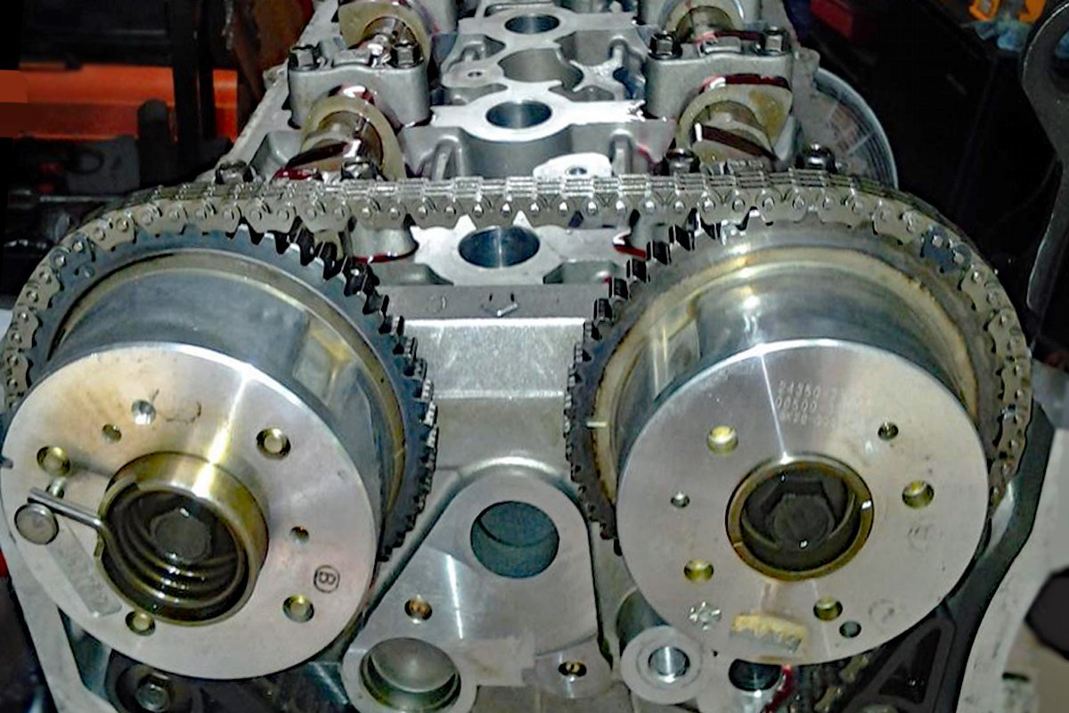 Spooling Up Tuning Dohc Variable Valve Timing For Boost Double Overhead Cam Engine Diagram With Phaser On Both The Exhaust Left And Intake Right Camshafts