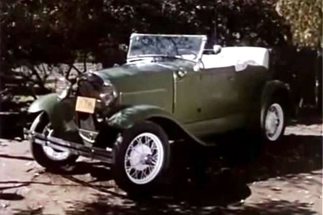 "A 1930 Ford Model  A was featured on a season five episode,  ""A Car Named Chrysanthemum."""
