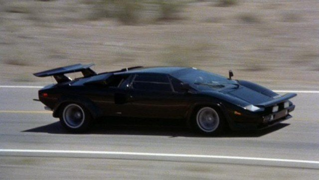 The four-wheeled star of the film: a 1980 Lamborghini Countach S.