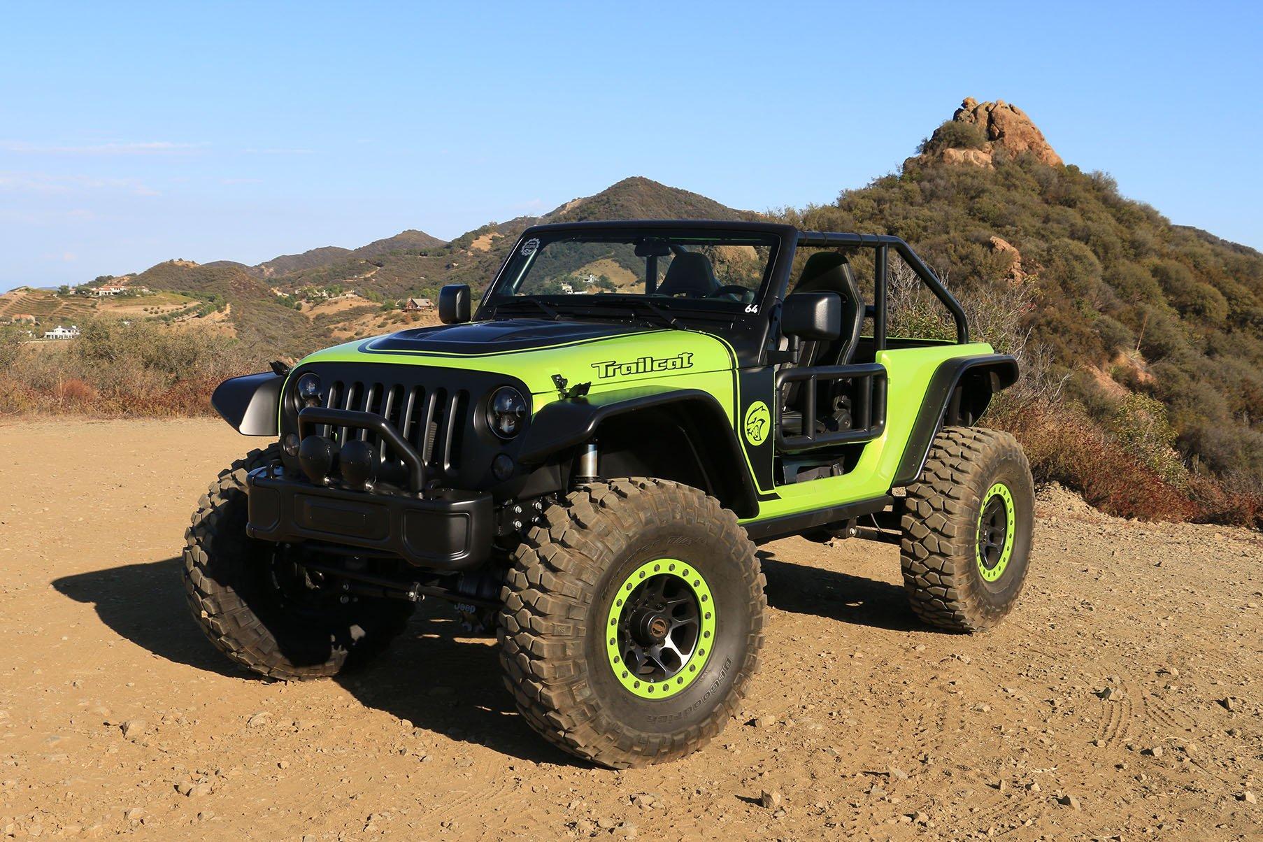 Jeep Trailcat featuring custom grille guard | www.blackhorse.com