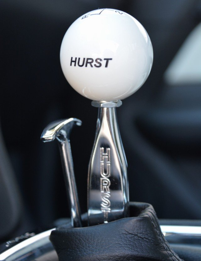 Actuating the MT-82 six-speed manual in the Hurst-Kenne Bell Mustang is the famed Hurst Competition Plus shifter, which features a retro trigger to disengage the reverse lockout.