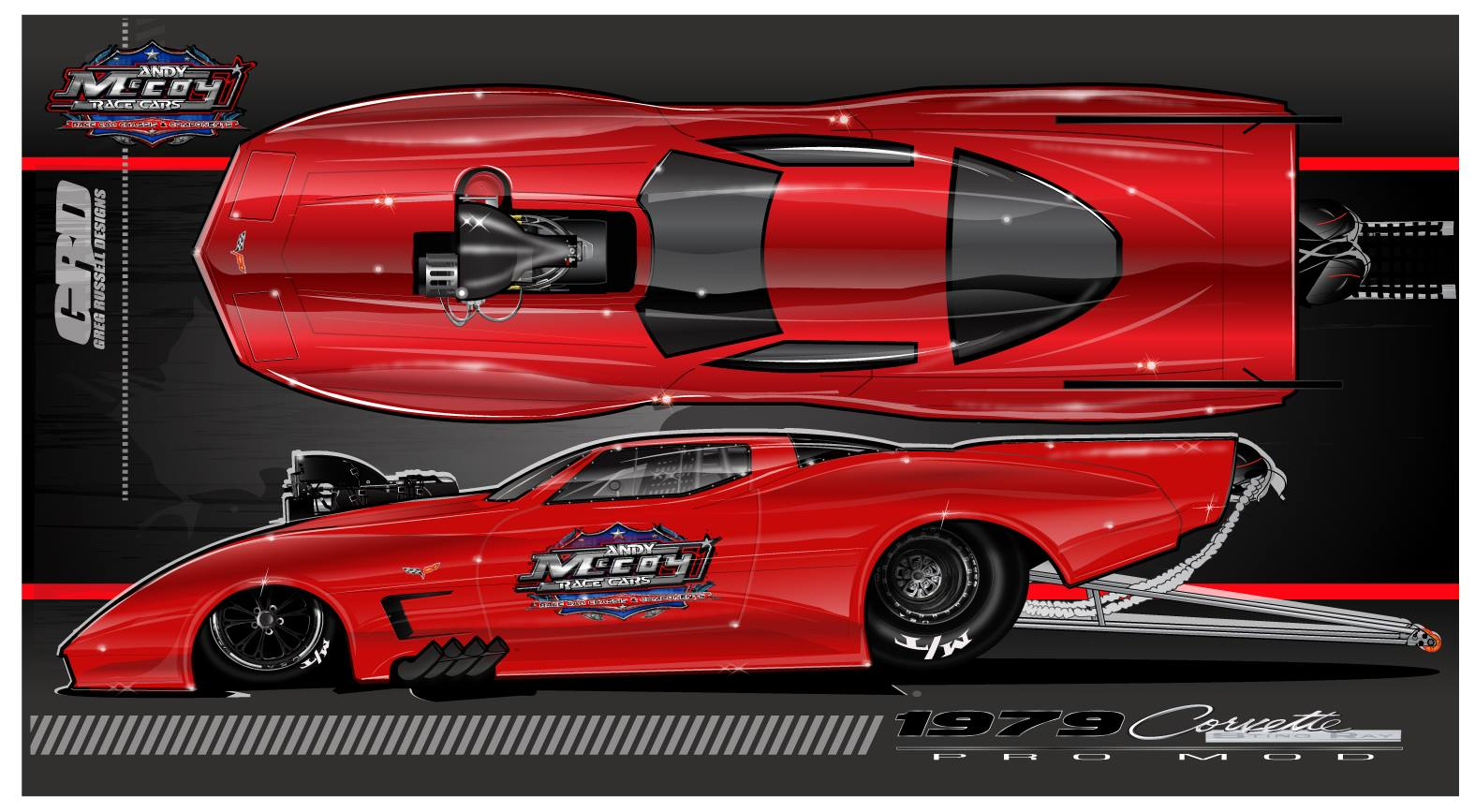 Andy Mccoy Race Cars Reveals 1979 C3 Corvette Doorslammer Body