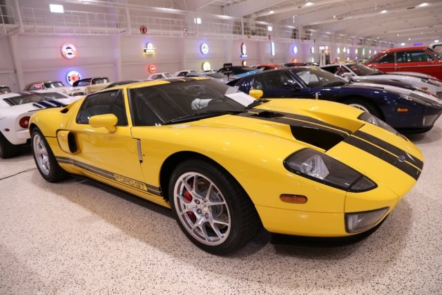Having one Ford GT would be cool enough, but Mark has one of each color built from 2005 to 2006. This Speed Yellow 2006 Ford GT is one of 75 Ford built in this color and it only has 43 original miles on the odometer!