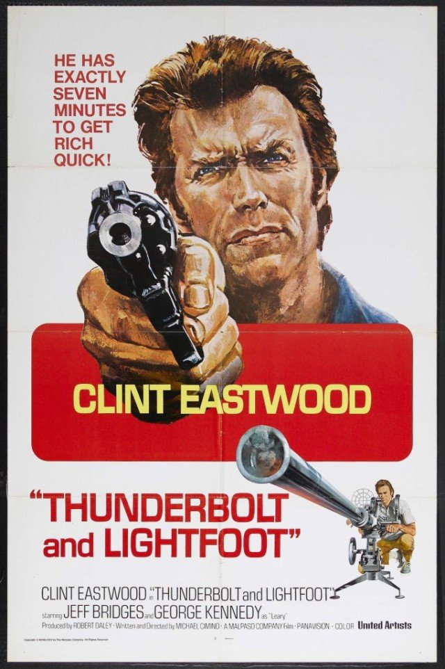 Thunderbolt and Lightfoot original one-sheet movie poster.