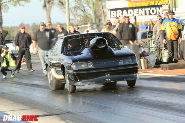 Justin Swanstrom and Scott Husted met in the semi finals with both car making clean hits. Husted was out first with an .062 reaction running a 4.28 out the back it's just wasn't enough to stay in from of Swanstron's strong nitrous car running a 4.22.
