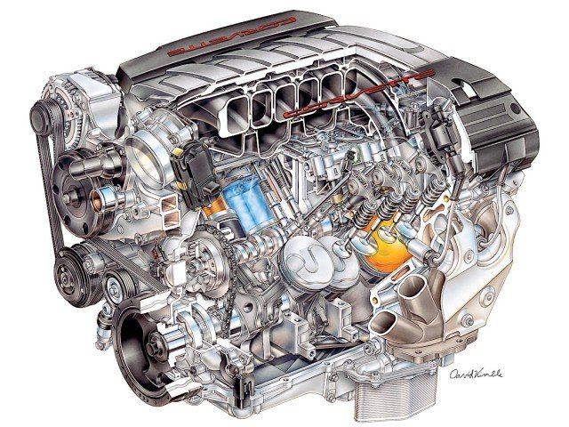"2014 ""LT-1"" 6.2L V-8 VVT DI (LT1) for Chevrolet Corvette"