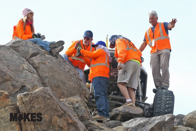 The volunteers and recovery crews really work hard to make the race what it is. Hat's off to the KOH crews!