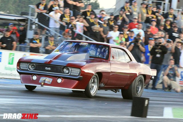 Tim Slavens was paired with Marty Stinnett with bother racers making solid runs. At the stripe it would be Slavens earnign the win with a 3.923 at 205.44 MPH. Stinnett repeated his round one effort 3.938 in a great match.