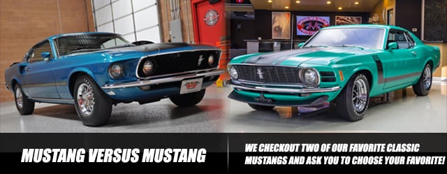 choose one mustang 1969 mach 1 versus 1970 boss 302. Black Bedroom Furniture Sets. Home Design Ideas