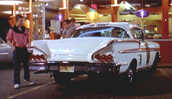 Steve's White '58 Chevy Impala Coupe.